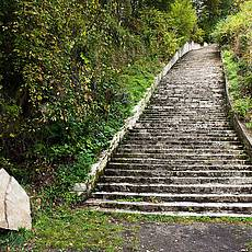 毛特豪森集中营的死亡楼梯(©Stefanie J. Steindl)