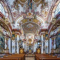 Wilhering学院教堂(作者:Uoaei1,维基百科)